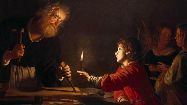 SAINT JOSEPH,CHILD,JESUS,CARPENTER
