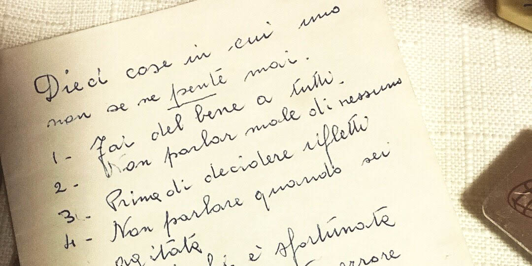 SISTER MARIA CARITAS NOTES