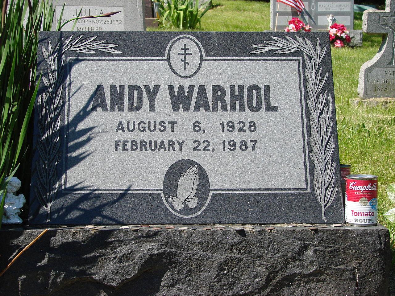 ANDY WARHOL, NAGROBEK