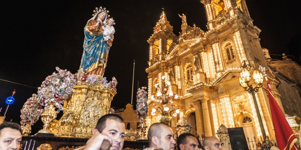 PROCESSION,MALTA,MARY