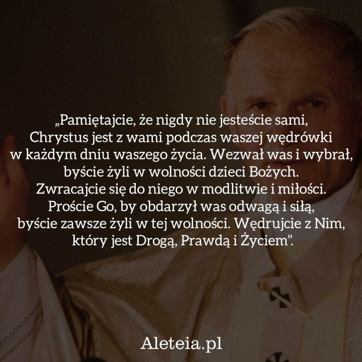 MODLITWA WEDŁUG JANA PAWŁA II