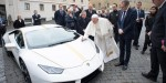 POPE FRANCIS WITH LAMBORGHINI