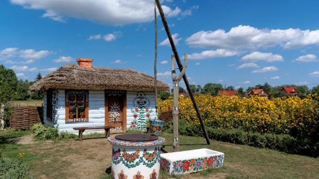 Chata we wsi Zalipie