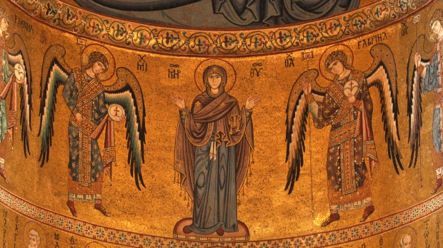 BYZANTINE MOSAICS; SICILY