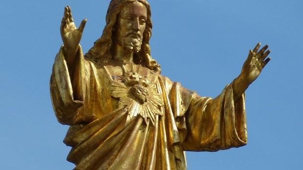 Golden statue of Jesus