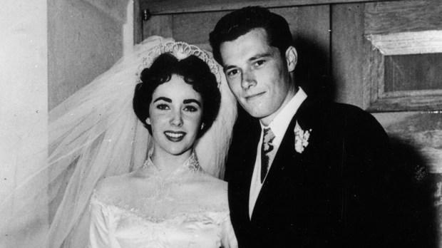 ELIZABETH TAYLOR AND CONRAD HILTON JR.
