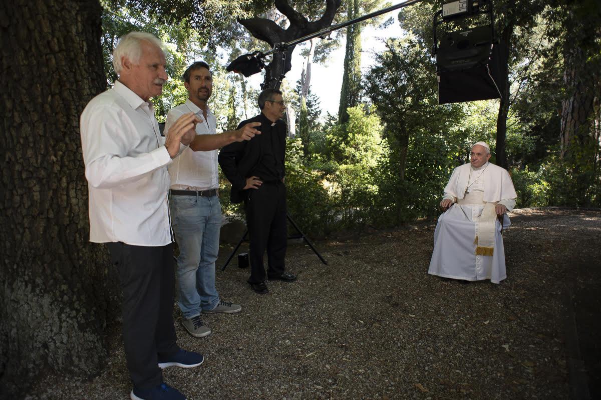 Así se grabó el vídeo del Papa de septiembre