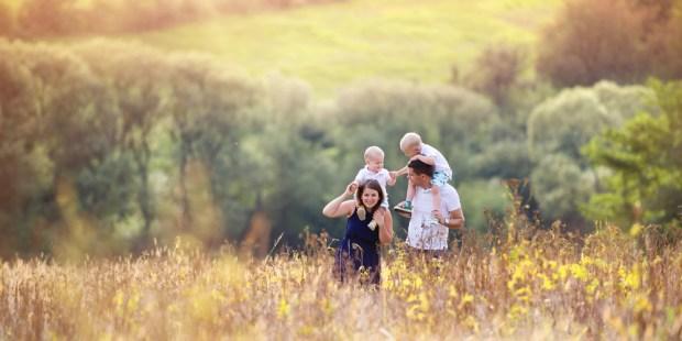 family, happy, children