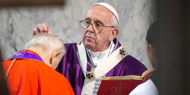 POPE FRANCIS; Ash Wednesday