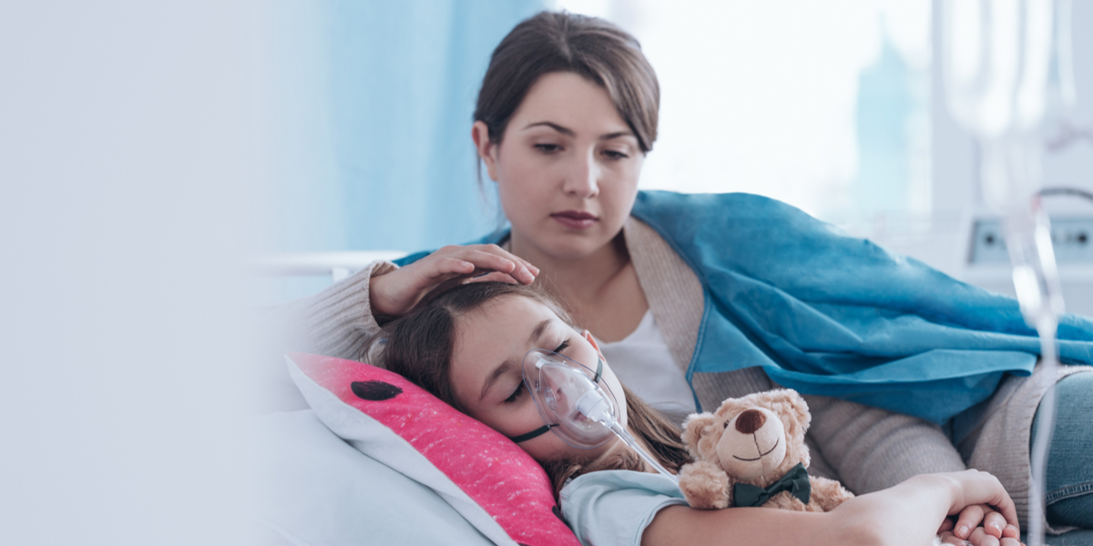 Mother, Child, Sick, Hospital,