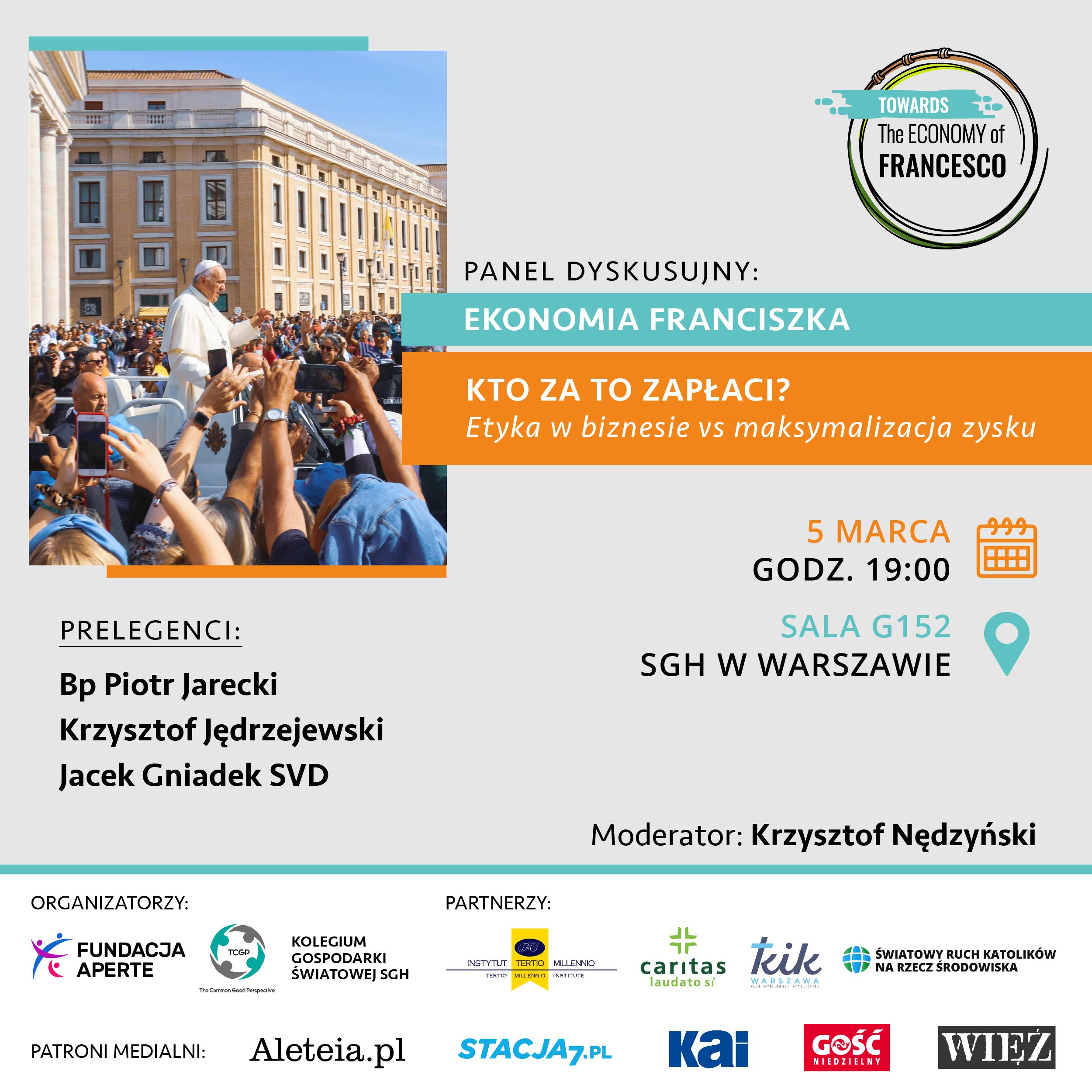Ekonomia Franciszka - debata młodych w Warszawie