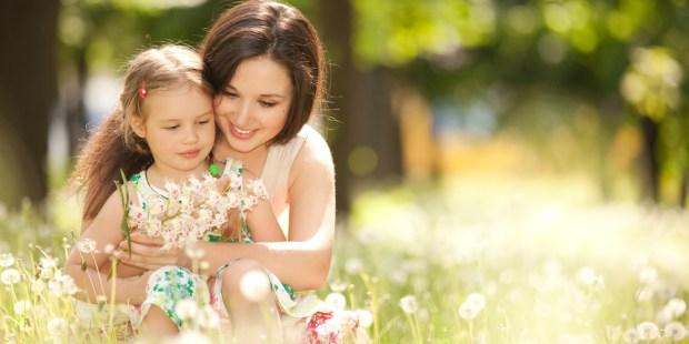 children, nature, parents, flowers,