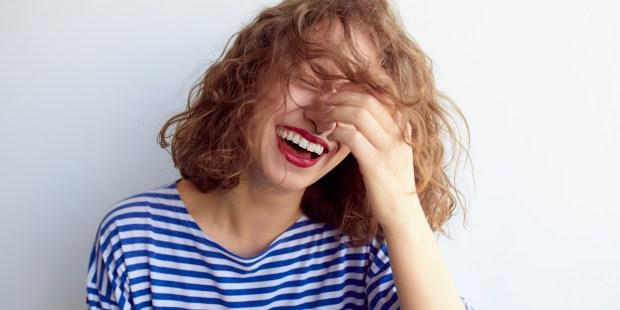 HAIR, SMILE, LAUGHING