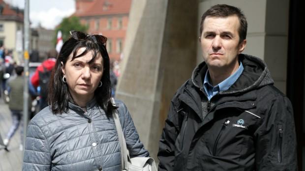 Natalia i Dymitr Protasiewiczowie - rodzice Romana Protasiewicza, białoruskiego opozycjonisty